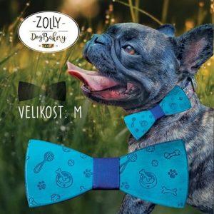 Dřevěný motýlek pro psy ZOLLY DOG M