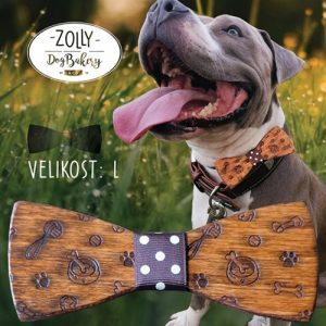 Dřevěný motýlek pro psy ZOLLY DOG L